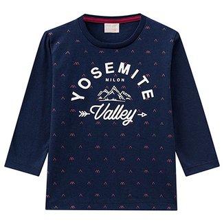 6c74a51ef Camiseta Infantil Milon Manga Longa Yosemite Masculina