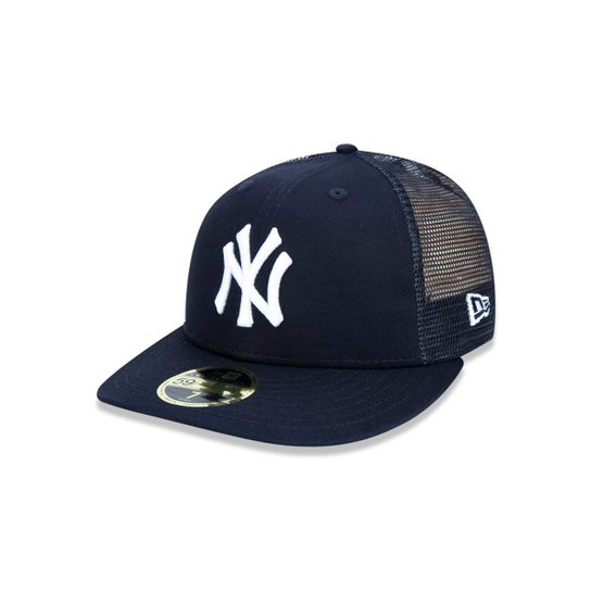 Boné 5950 New York Yankees MLB Aba Reta New Era - Marinho - Compre ... 79ff6f91a49