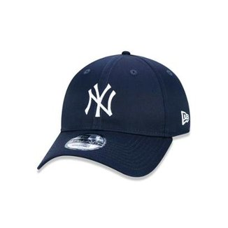 Boné 920 New York Yankees MLB Aba Curva Strapback New Era ff4c8173c1d72