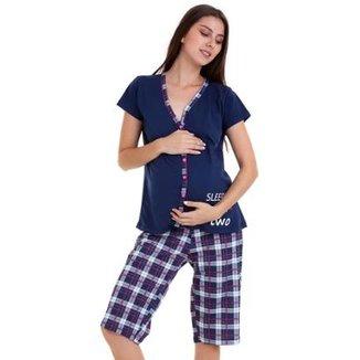 6c066d6c1 Pijama Amamentação Capri Luna Cuore