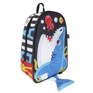8fc3f76f3a42e Mochila Bebê Ó Design baby tubarão Masculina