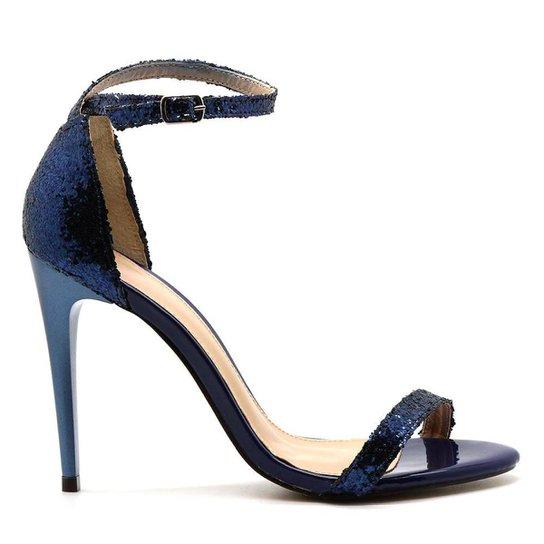 f3b27c295 Sandália Royalz Glitter Salto Fino Tira Grace Azul Feminino - Compre ...