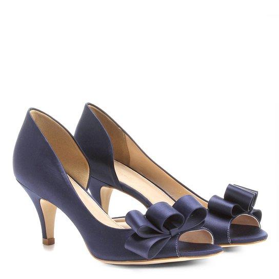 a0247d81f Peep Toe Shoestock Cetim Laço - Compre Agora   Zattini
