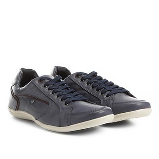 c71bfd5414b Sapatênis Couro Shoestock Recortes Masculino