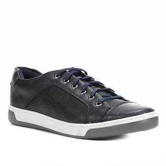 Sapatênis Couro Shoestock Laser Masculino
