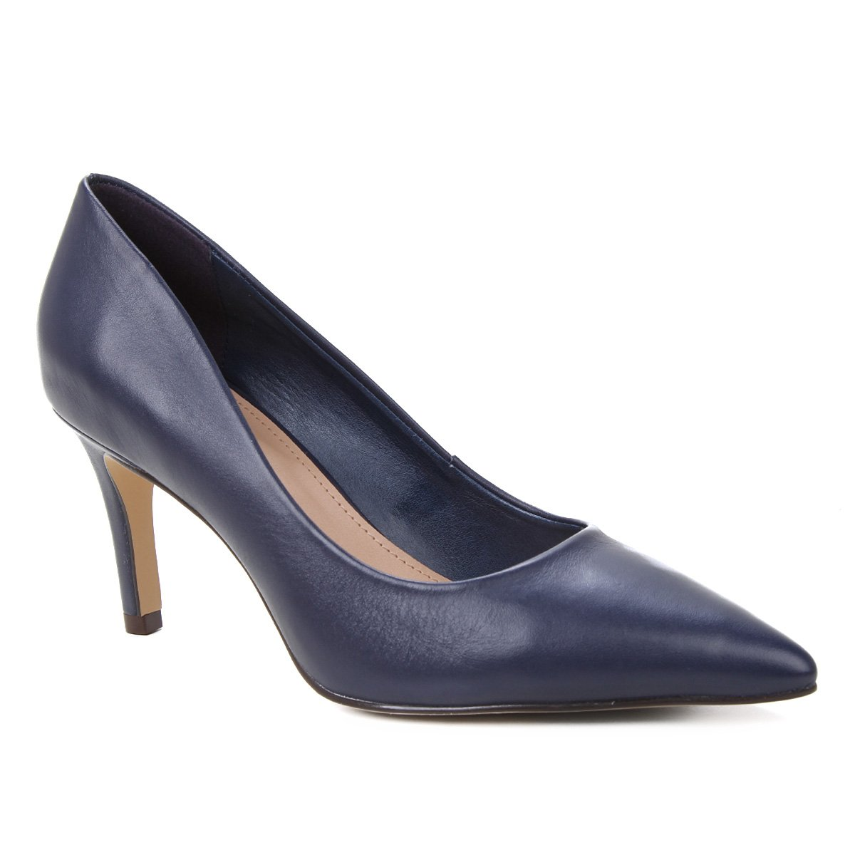 Scarpin Couro Shoestock Liso Salto Médio