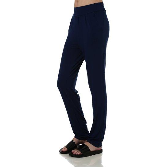 53fd42bde Calça de Tecido Feminina Azul marinho - Compre Agora