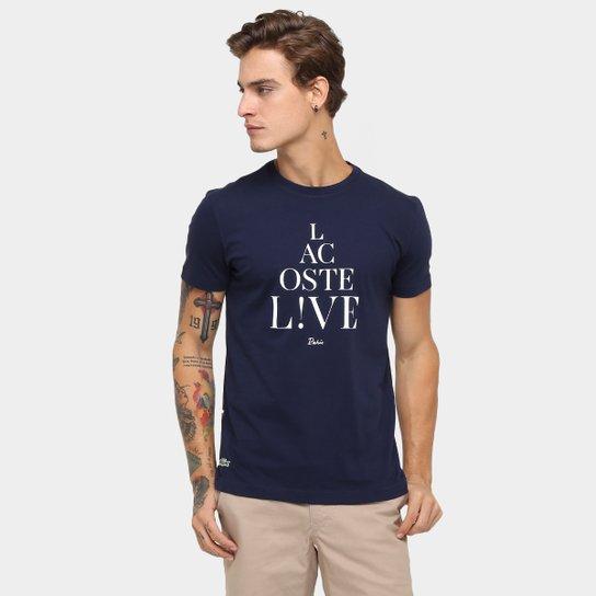 Camiseta Lacoste Live Paris - Compre Agora   Zattini a70700754e