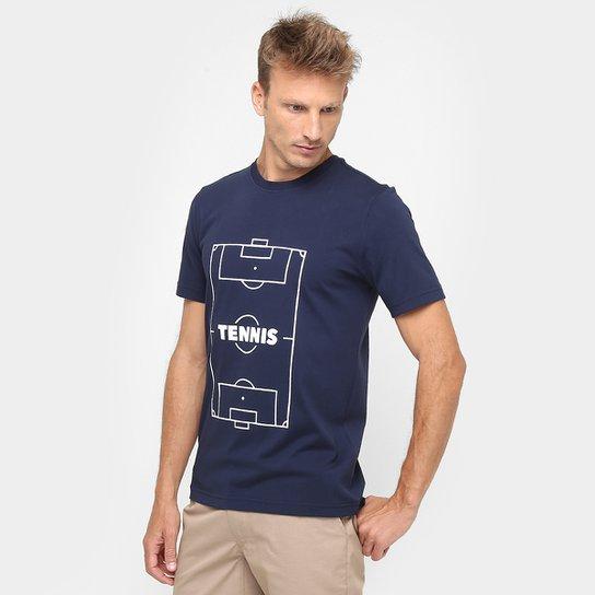 Camiseta Lacoste Live Estampada Tennis - Compre Agora   Zattini 97ced3ff73