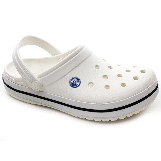 a39c1bfcb14 Chinelo Crocs Crocband - Branco - Compre Agora