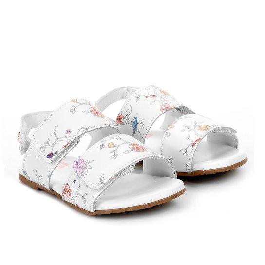 3b7c61e61d Sandálias Infantil Bibi Flores Velcro Feminina - Branco - Compre ...
