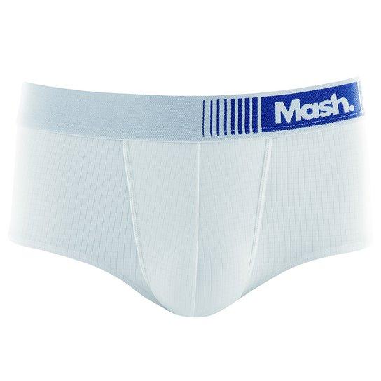 438d00228c313b Cueca Mash Slip Microfibra Active Masculina - Branco