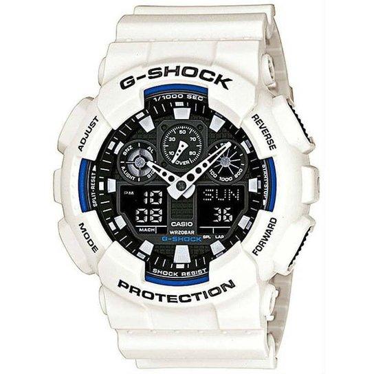 933fdc4a154 Relógio Casio G-Shock Ga-100B-7Adr - Branco - Compre Agora
