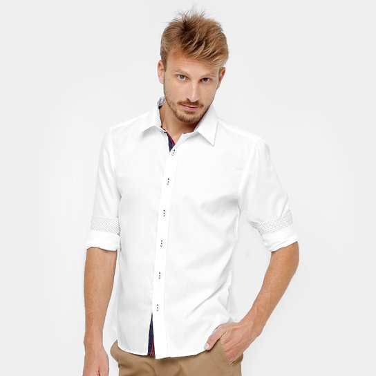 233533cb6f7 Camisa Social Blue Bay Manga Longa Masculina - Compre Agora