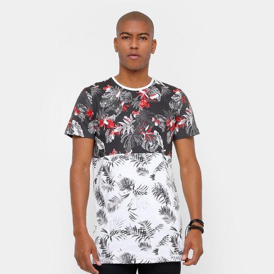 Camiseta Coca-Cola Long Recorte Flowers Masculina - Compre Agora ... 2b19e3e9d2c