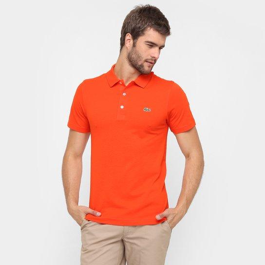 3f85ff279f9ec Camisa Polo Lacoste Super Light Masculina - Laranja e Verde - Compre ...
