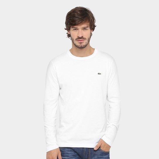 fa9f75d36 Camiseta Lacoste Jersey Manga Longa Masculina - Compre Agora