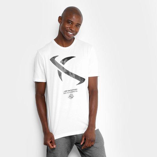 Camiseta Lost Eclipse Masculina - Branco - Compre Agora  d2466c654e171