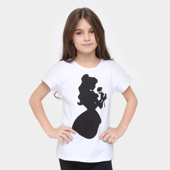 90166f1017087 Camiseta Disney A Bela E A Fera Infantil - Compre Agora   Zattini