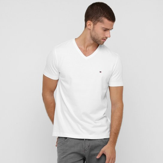 8d24619791c Camiseta Tommy Hilfiger Gola V Básica - Compre Agora