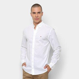 Camisa Manga Longa Tommy Hilfiger Lisa Popeline Regular Fit Masculina 037733bf18e