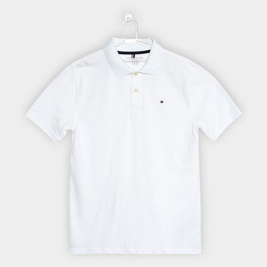 59f3d33d03 Camisa Polo Infantil Tommy Hilfiger Knit New Masculina - Branco ...