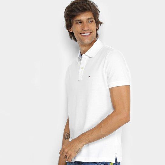 67b8947713123 Camisa Polo Tommy Hilfiger Básica Masculina - Branco - Compre Agora ...