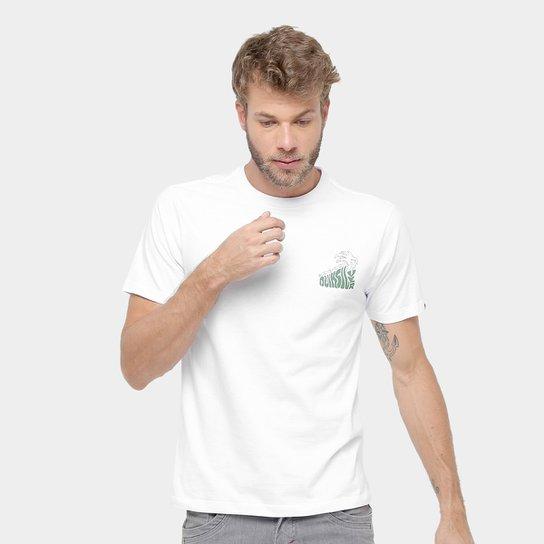 edb175453652c Camiseta Quiksilver Básica Palm Masculina - Branco - Compre Agora ...