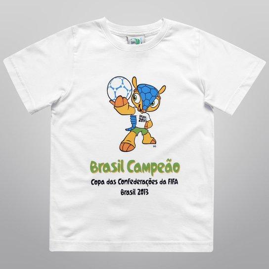 Camiseta FIFA Mascote Brasil Campeão Infantil - Compre Agora  059e956150da3