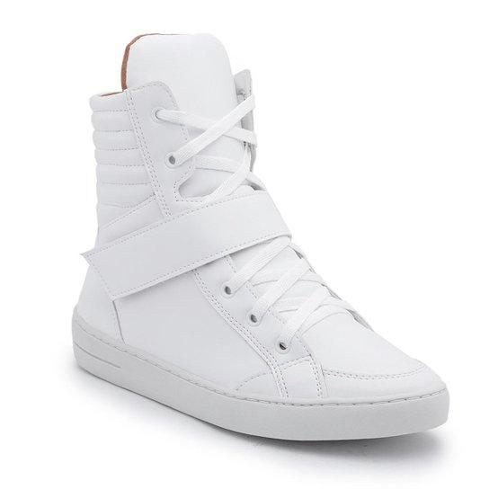 f50a2d85772 Tênis Top Franca Shoes Cano Alto Feminino - Branco - Compre Agora ...