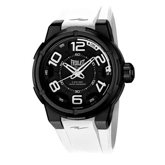 2422272fb80 Relógio Pulso Everlast Torque E685 Caixa Abs Pulseira - Branco ...