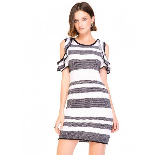 2dbca2968 Vestido Amaro Tricot Recorte Ombro - Compre Agora | Zattini