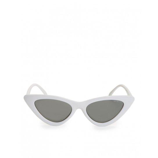 7ceeeac15d6ce Óculos Amaro De Sol Gatinho Feminino - Branco - Compre Agora