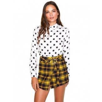 fc0f507b5b Camisa Amaro Feminina Estampada Feminina
