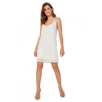 acd52657b Vestido Amaro Alcinha Paetê