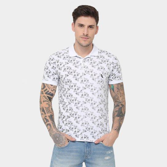 Camisa Polo Reserva Malha Full Print Folhas - Compre Agora  21c2151693e35