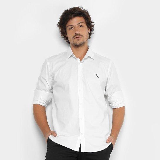 Camisa Reserva Slim Fit Manga Longa Masculina - Branco - Compre ... 016b319e694