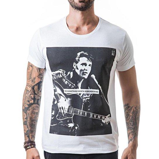 cd84922379 Camiseta T-shirt Liferock Elvis - Branco - Compre Agora