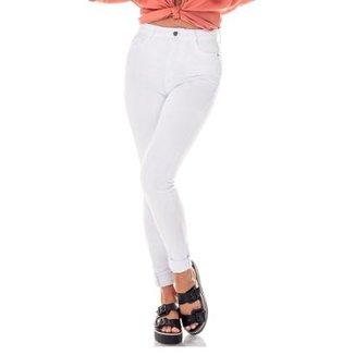Calça Denim Zero Skinny Cintura Alta Feminina ac29a9a5743