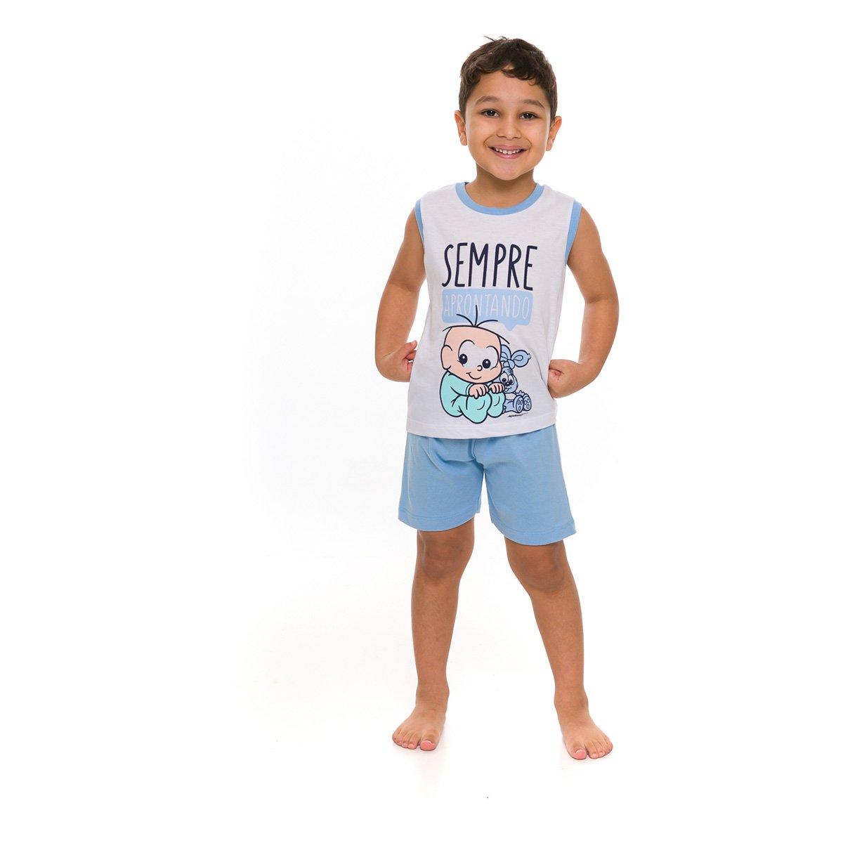 Pijama Infantil Evanilda Turma da Mônica Masculino