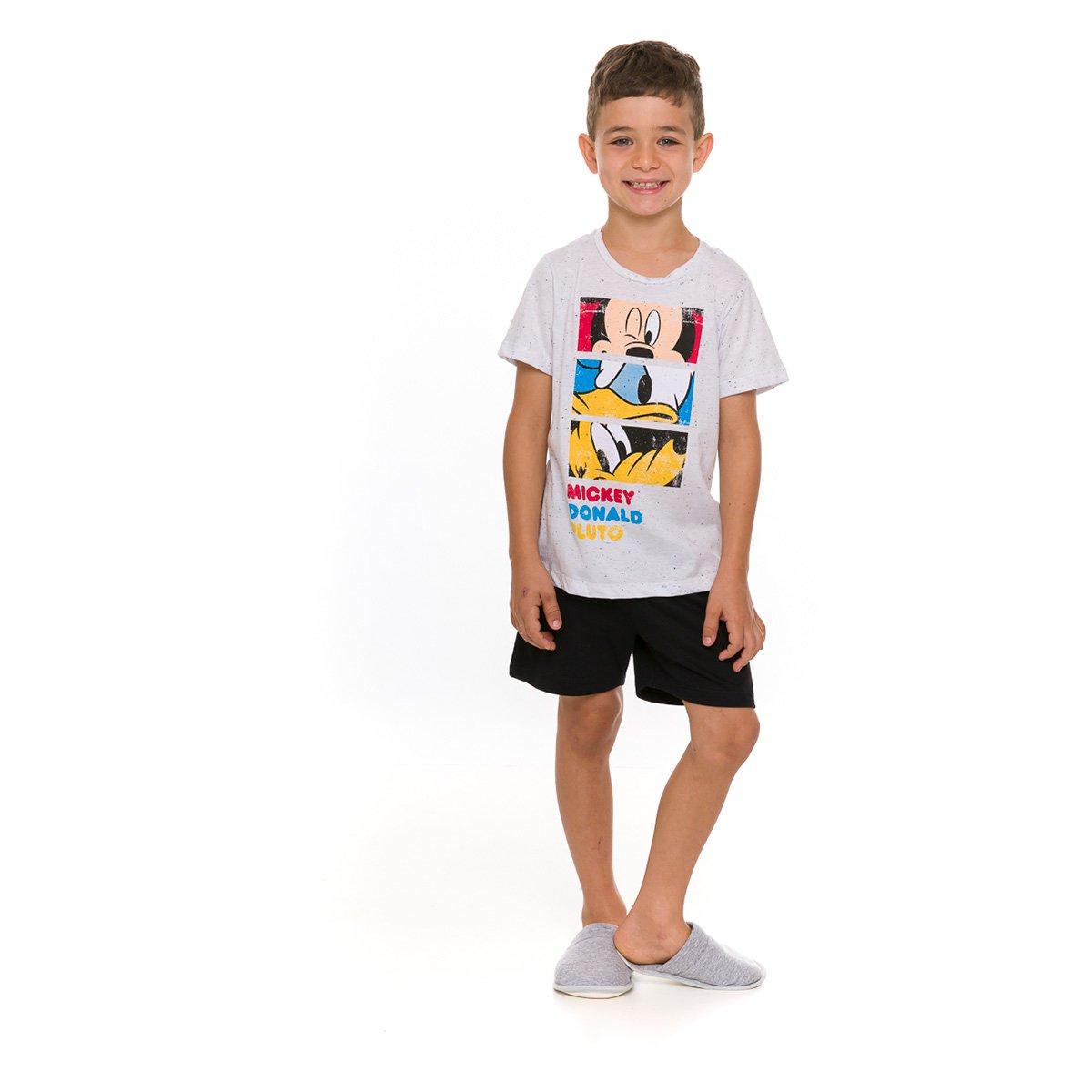 Pijama Infantil Evanilda Disney Amigos do Mickey Masculino