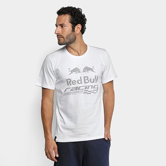 Camiseta Red Bull Racing Estampa Contraste Masculina f85008db6a0