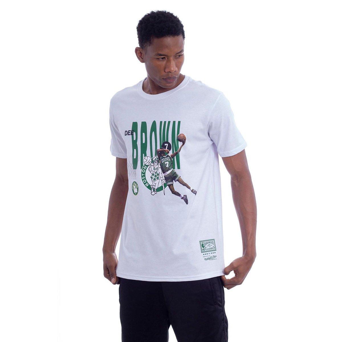 Camiseta NBA Boston Celtics Mitchell & Ness All Star Brown Masculina