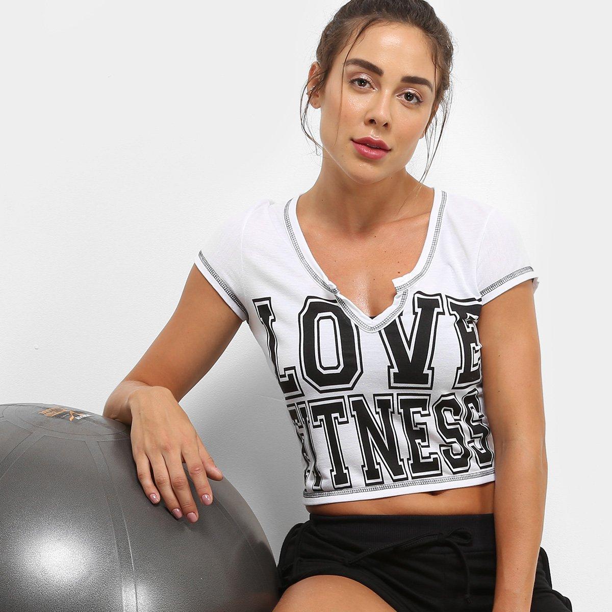 381eb1e192461 Camiseta GONEW Love Fitness Feminina