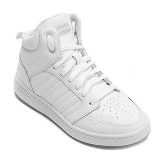 eae46a606f8 Tênis Couro Cano Alto Adidas Cf Super Hoops Mid Masculino