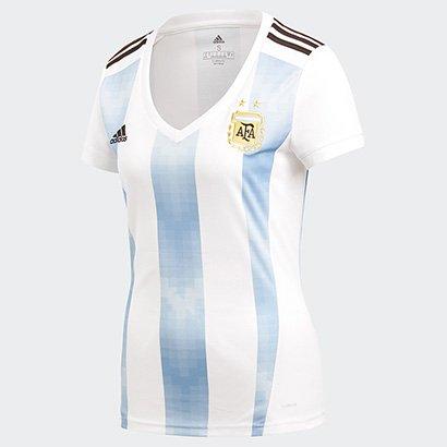 cc5565d8cf0 ... Camisa Seleção Argentina Home 2018 s n° Torcedor Adidas Feminina. Passe  o mouse para ver o Zoom