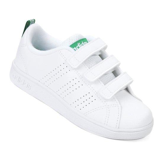 756f3e79d182c Tênis Infantil Adidas Vs Advantage Clean C - Branco e Verde   Zattini
