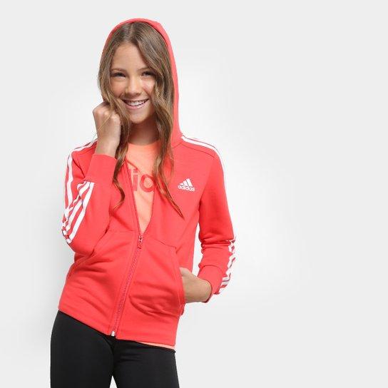 c30b6ee46d5 Jaqueta Infantil Adidas Yg 3S Fz Hd Feminina - Compre Agora