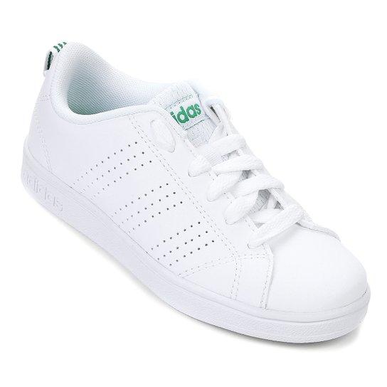 ff3a3c80300 Tênis Infantil Adidas Advantage Clean - Branco e Verde - Compre ...
