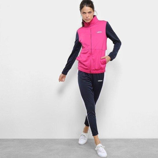 fca79c023d Agasalho Adidas Wts Plain Tric Feminino - Pink e Marinho | Zattini